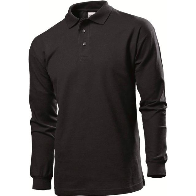 Stedman Polo Long Sleeves T-shirt - Black Opal