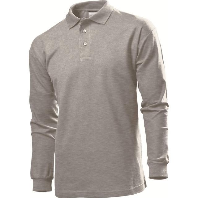 Stedman Polo Long Sleeves T-shirt - Grey Heather