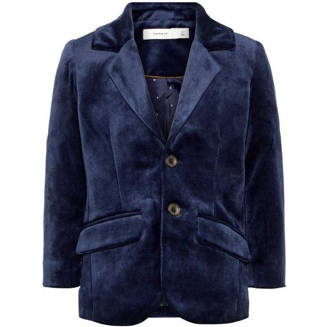 Name It Mini Velour Blazer - Blue/Dark Sapphire (13160269)