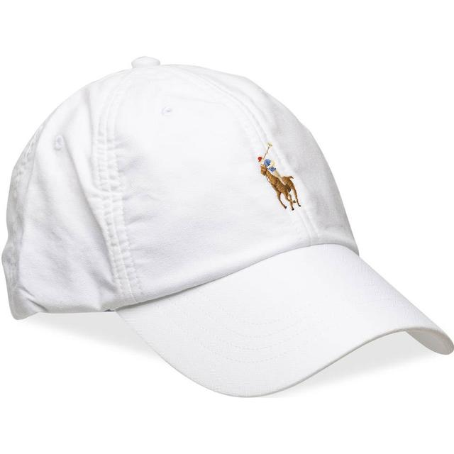 Polo Ralph Lauren Cotton Oxford Baseball Cap - White W/Multi PP