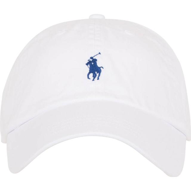 Polo Ralph Lauren Cotton Chino Baseball Cap - White/Marine Blue PP