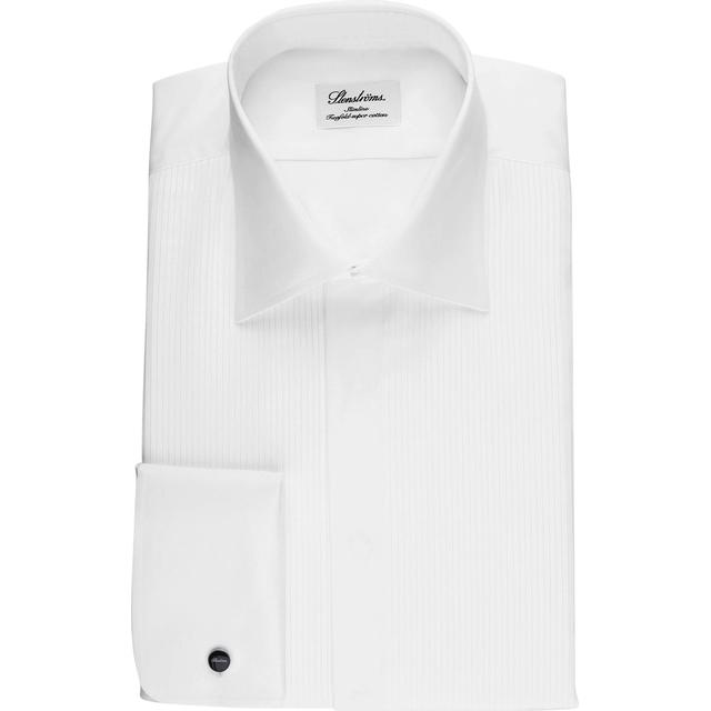 Stenströms Slimline Tuxedo Shirt with Classic Collar - White