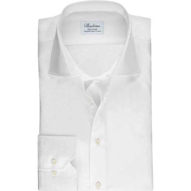 Stenströms Fitted Body Shirt In Superior Twill - White