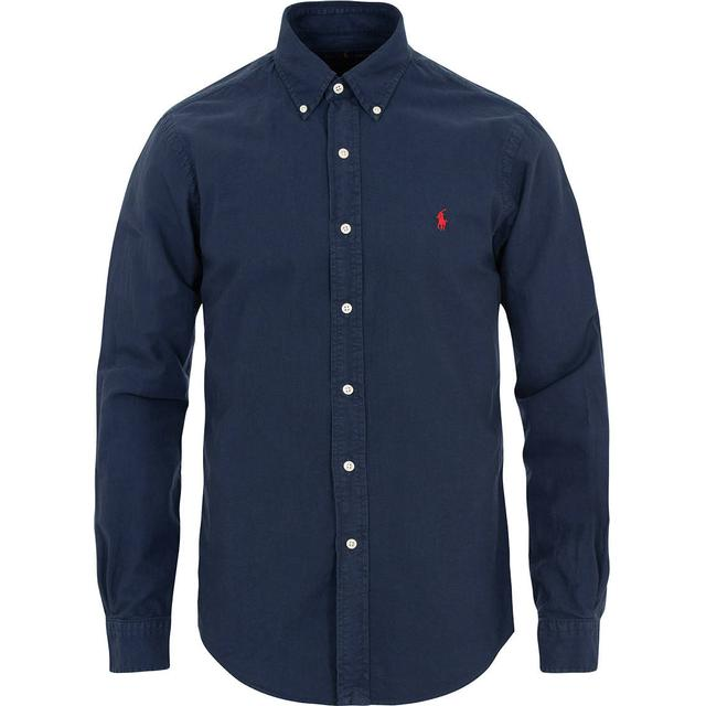 Polo Ralph Lauren Garment-Dyed Oxford Shirt - Navy
