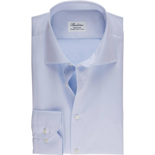 Stenströms Fitted Body Shirt In Superior Twill - Light Blue