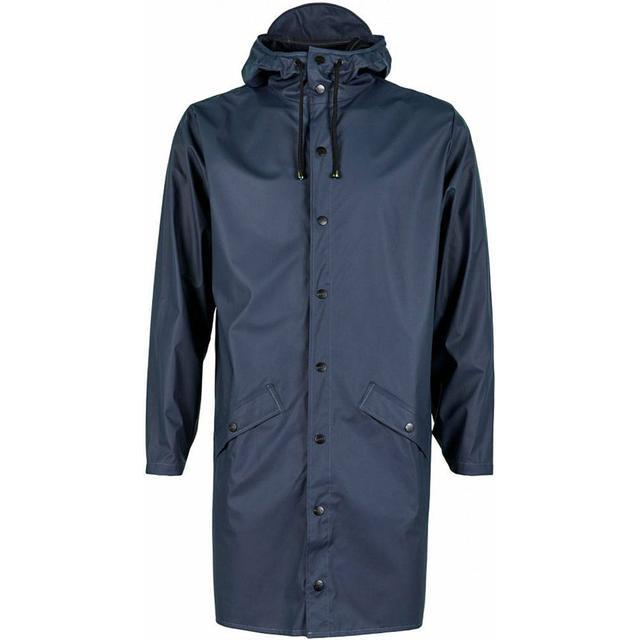 Rains Long Jacket Unisex - Blue