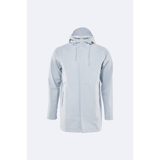 Rains Short Coat Unisex - Ice Grey