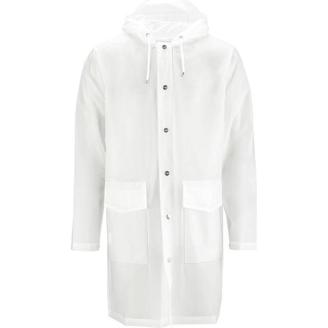 Rains Hooded Coat Unisex - Foggy White