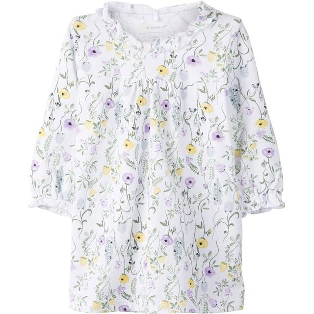 Name It Baby Floral Print Dress - White/Bright White (13165715)
