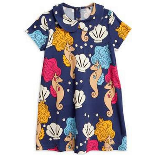 Mini Rodini Seahorse Collar Dress - Dark Blue (1925012767)
