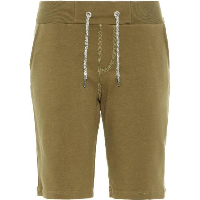 Name It Kid's Long Sweat Shorts - Green/Burnt Olive (13153502)