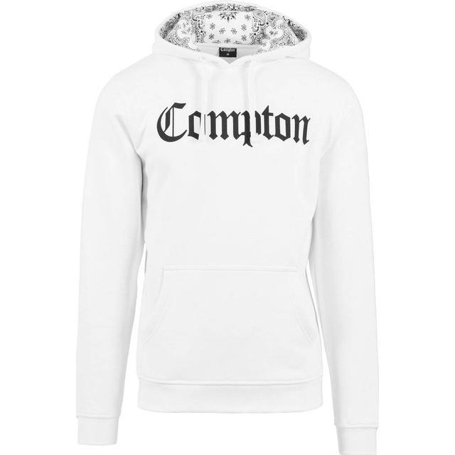 Mister Tee Compton Hooded Bandana Hoody - White