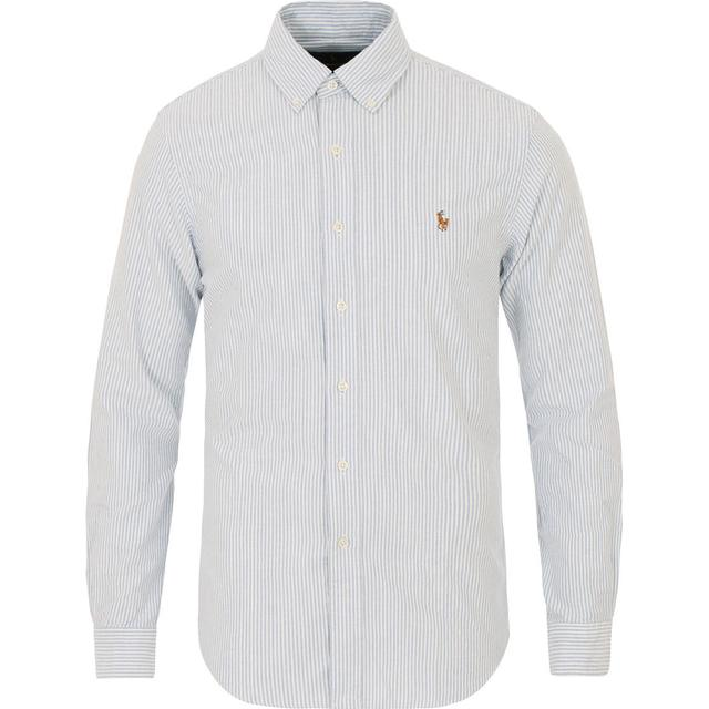 Polo Ralph Lauren Slim Fit Oxford Sport Shirt - BSR Blue/White