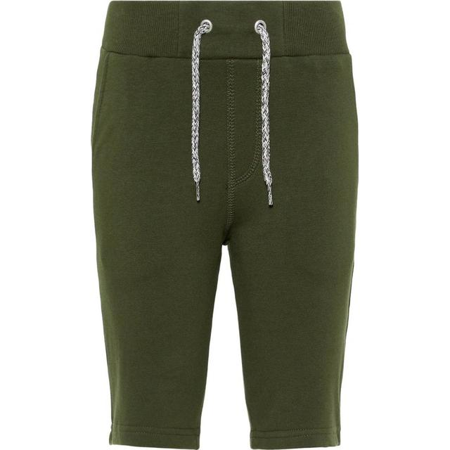 Name It Kid's Long Sweat Shorts - Green/Deep Depths (13153502)
