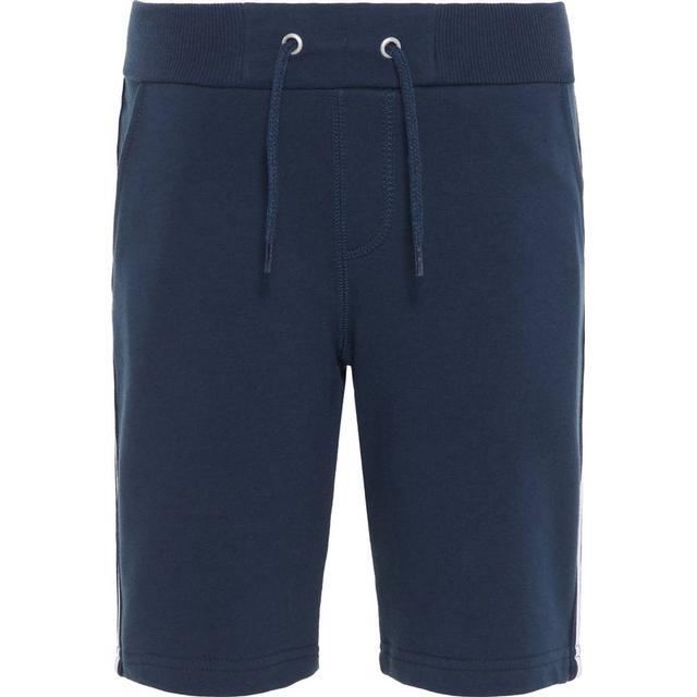 Name It Kid's Side Stripe Sweat Shorts - Blue/Dark Sapphire (13167848)