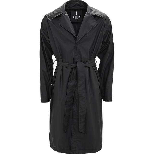 Rains Overcoat Unisex - Black