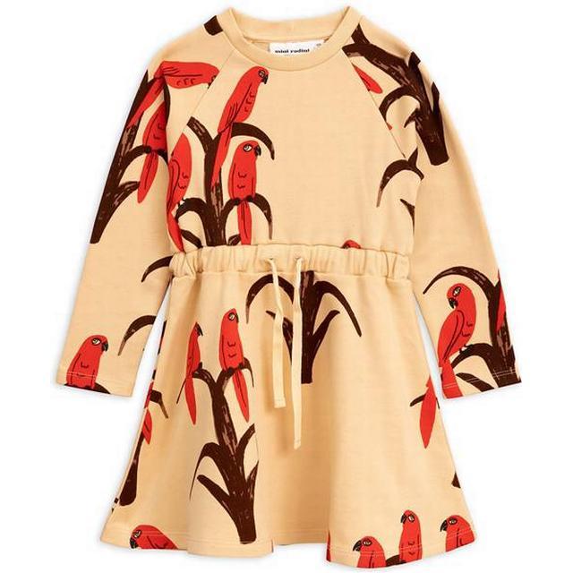 Mini Rodini Parrot Long Sleeved Dress - Red (1965013042)