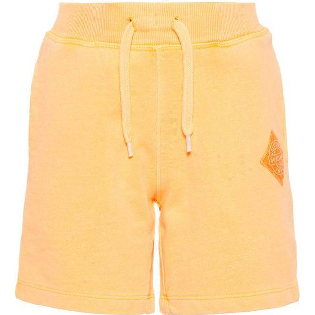 Name It Kid's Cotton Sweat Shorts - Orange/Orange Pop (13165444)
