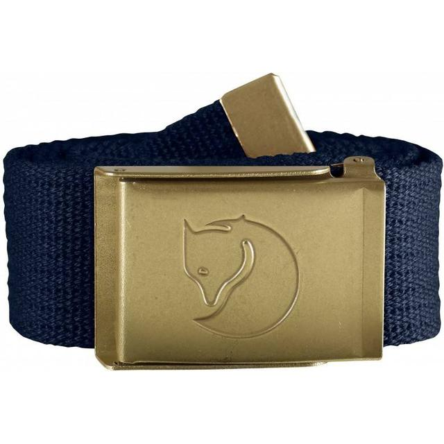 Fjällräven Canvas Brass Belt Unisex - Dark Navy