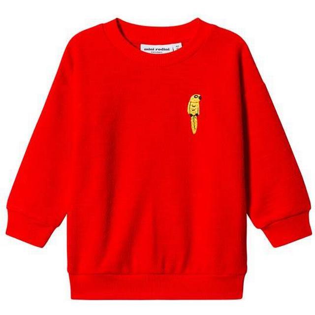 Mini Rodini Parrot Embroidered Sweatshirt - Red (1962014542)