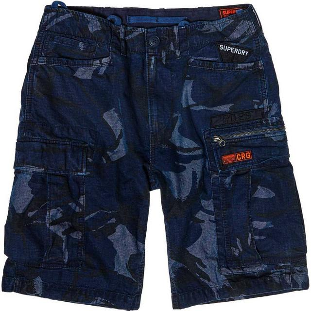 Superdry Parachute Cargo Shorts - Indigo Outline Camo Badge