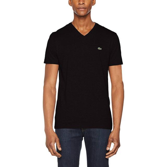 Lacoste V-neck Pima Cotton Jersey T-shirt - Black