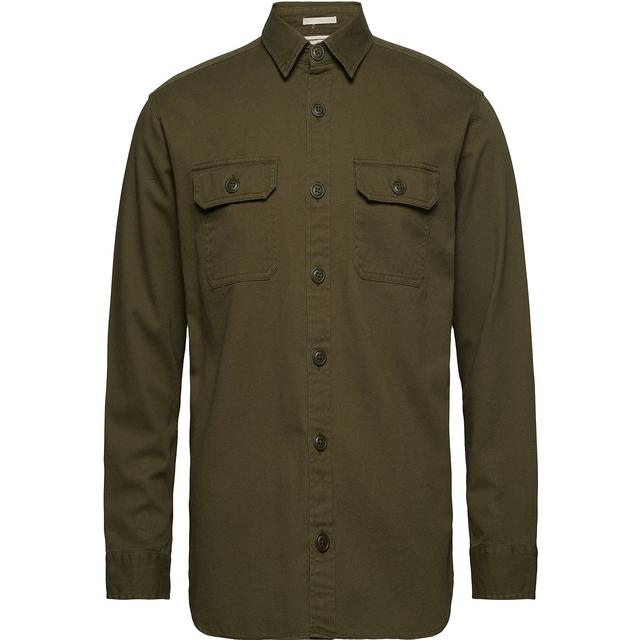 Selected Loose Fit Shirt - Green/Sea Turtle
