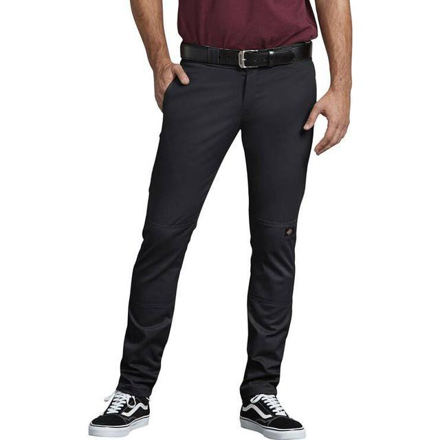 Dickies Skinny Straight Fit Double Knee Work Pants - Black