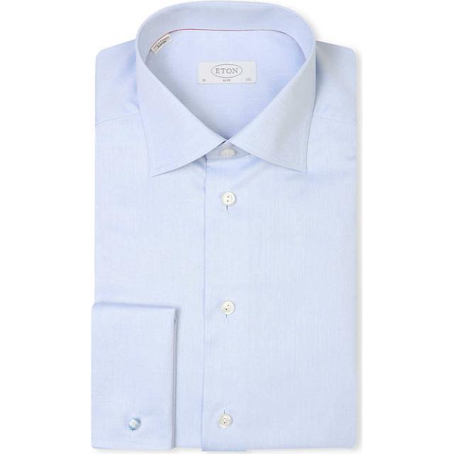 Eton Slim Fit French Cuff Shirt - Light Blue