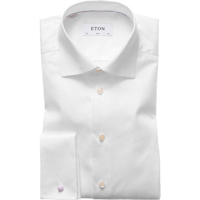 Eton Slim Fit French Cuff Shirt - White