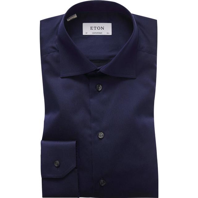 Eton Contemporary Fit Signature Twill Shirt - Navy