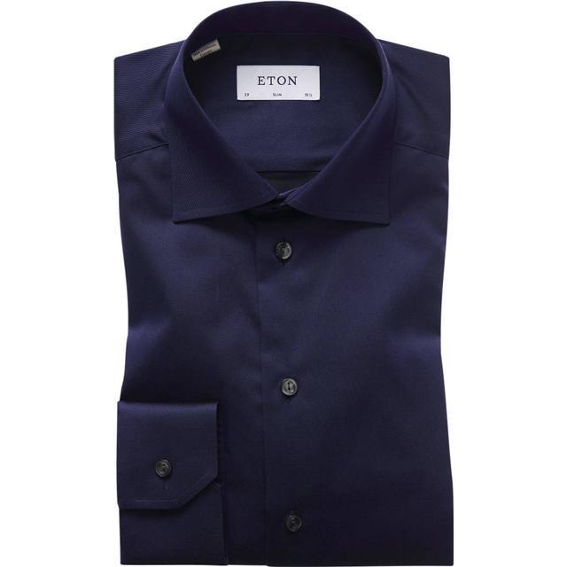 Eton Slim Fit Signature Twill Shirt - Navy