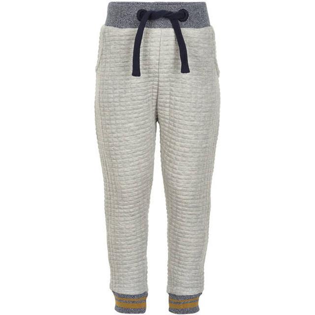 Minymo Quilt Sweatpants - Grey Melange (131098-1230)