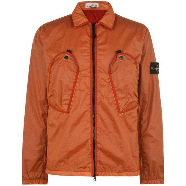 Stone Island 11435 Lamy Flock Overshirt - Orange