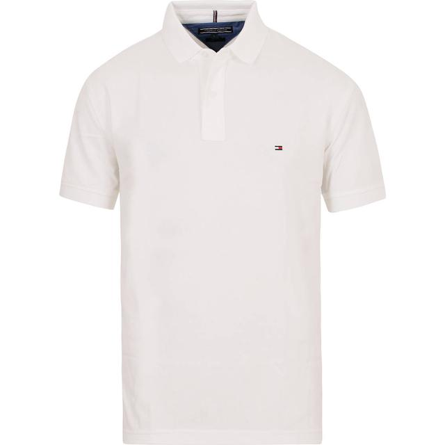 Tommy Hilfiger Regular Fit Cotton Polo Shirt - Bright White