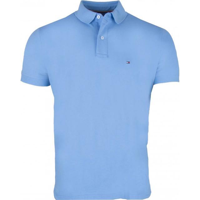 Tommy Hilfiger Contrast Button Cotton Polo Shirt - Cornflower Blue