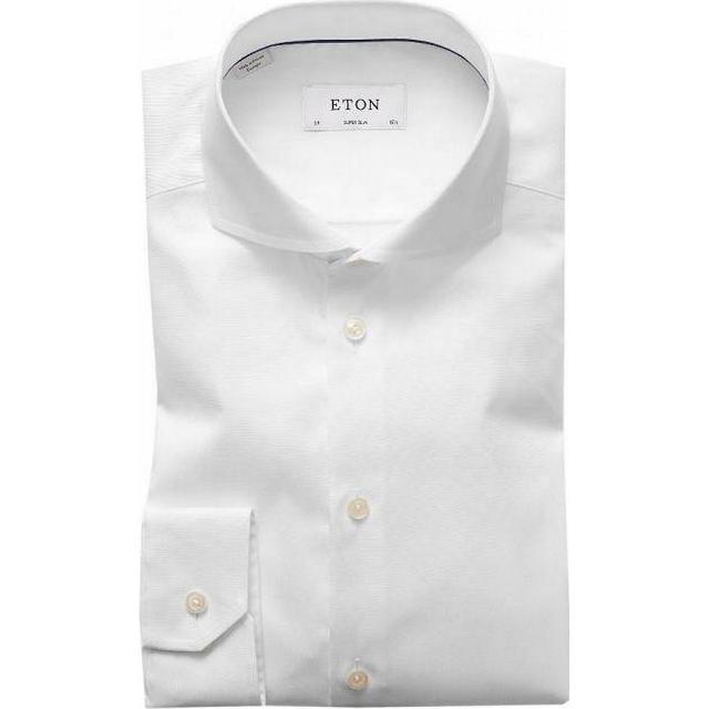 Eton Super Slim Fit Extreme Cut Away Shirt - White