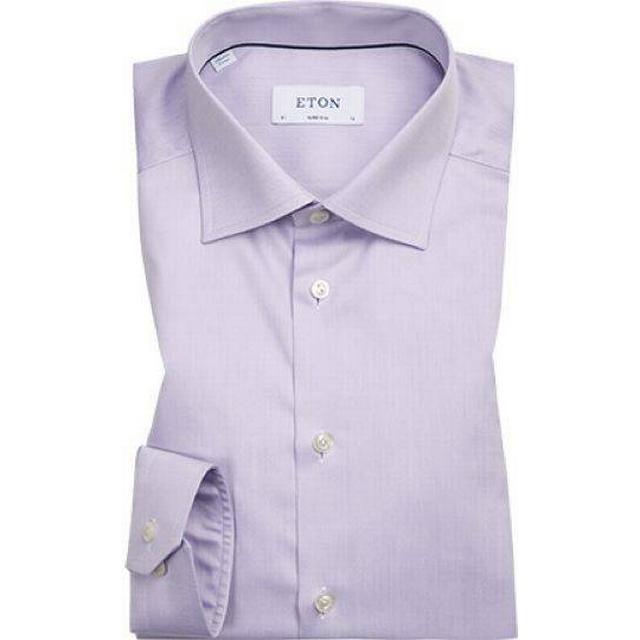 Eton Super Slim Fit Signature Twill Shirt - Purple