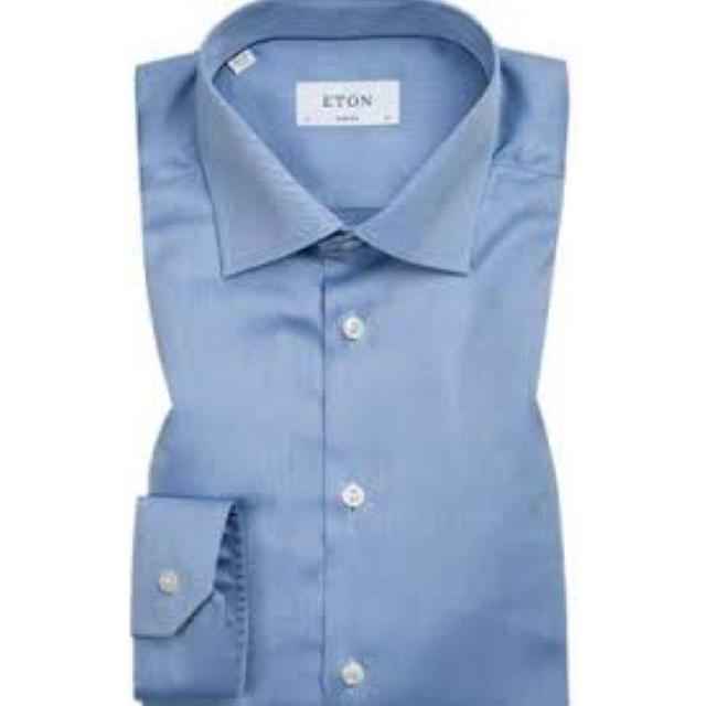 Eton Super Slim Fit Signature Twill Shirt - Blue
