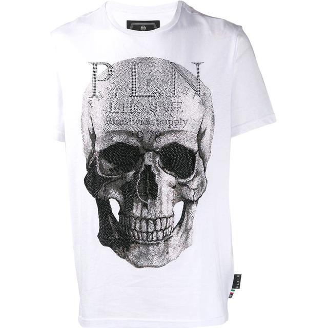 Philipp Plein Platinum Cut Round Neck Skull T-shirt - White