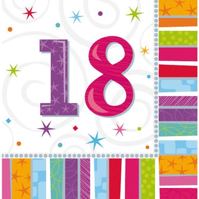 Amscan Radiant Birthday 18 (991412)