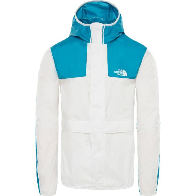 The North Face 1985 Seasonal Celebration Packable Mountain Jacket -TNF White/Crystal Teal