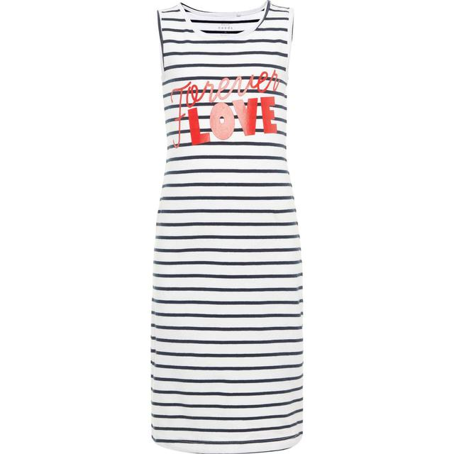 Name It Kid's Printed Maxi Dress - White/Bright White (13161687)