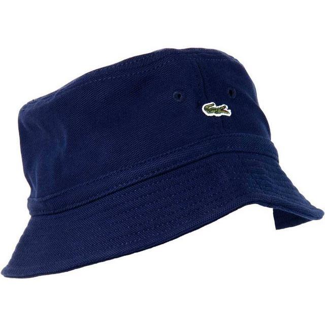 Lacoste Piqué Bucket Hat - Navy Blue