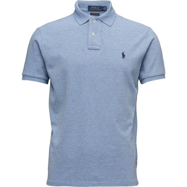 Polo Ralph Lauren Custom Slim Fit Mesh Polo Shirt - Jamaica Heather