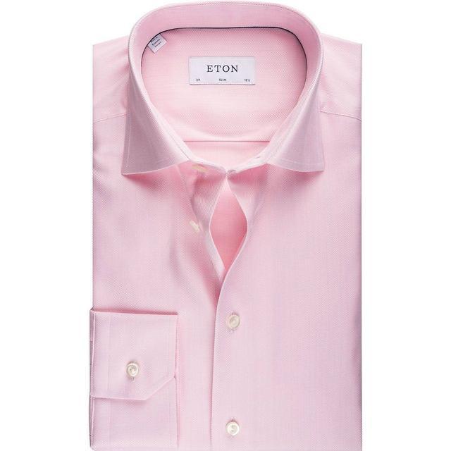 Eton Super Slim Fit Signature Twill Shirt - Pink