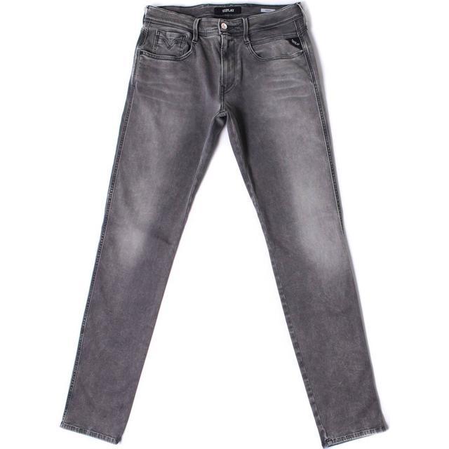 Replay Hyperflex Anbass Slim Fit Jeans - Grey Denim