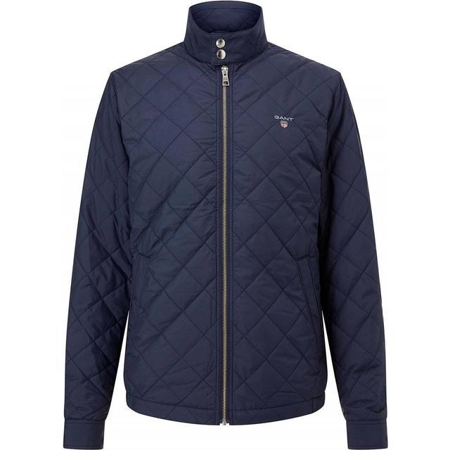 Gant Quilted Windcheater Jacket - Evening Blue