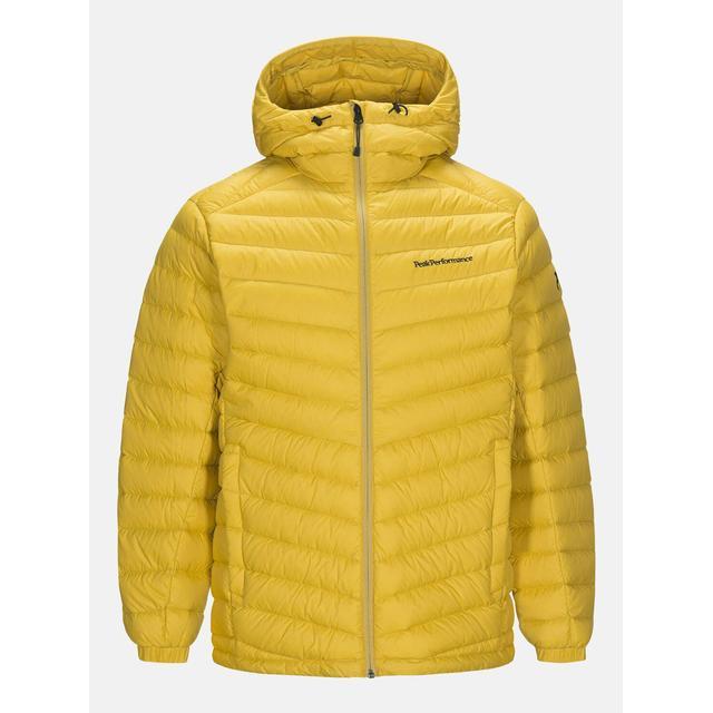 Peak Performance Frost Down Hooded Jacket - Yellow Flow