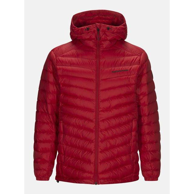 Peak Performance Frost Down Hooded Jacket - Dark Chilli